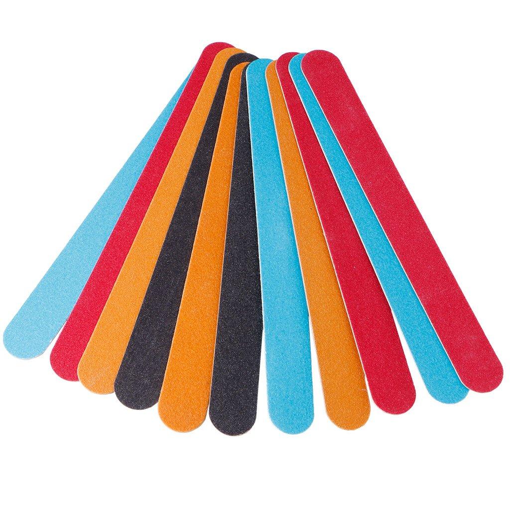 Simdoc Professional Nail Files Double Sided Emery Board,Pro Nail Art Slim Sanding File Buffer for Salon Manicure UV Gel Polisher Tool,Random Color