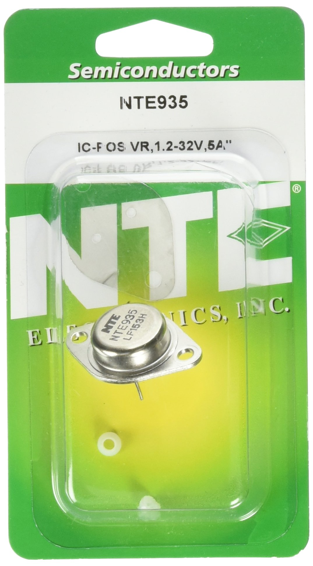 NTE Electronics NTE935 Integrated Circuit 3-Terminal Adjustable Positive Voltage Regulator, to-3 Package, 5 Amp Load Current, 1.2V to 32V Output Voltage