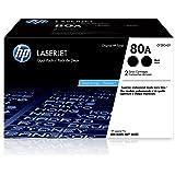 HP 80A   CF280AD1   2 Toner Cartridges   Black