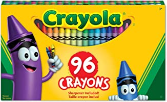 Crayola 96 Crayons,  School and Craft Supplies, Gift for Boys and Girls, Kids, Ages 3,4, 5, 6 and Up, Holiday Toys, Stocking Stuffers, Arts and Crafts
