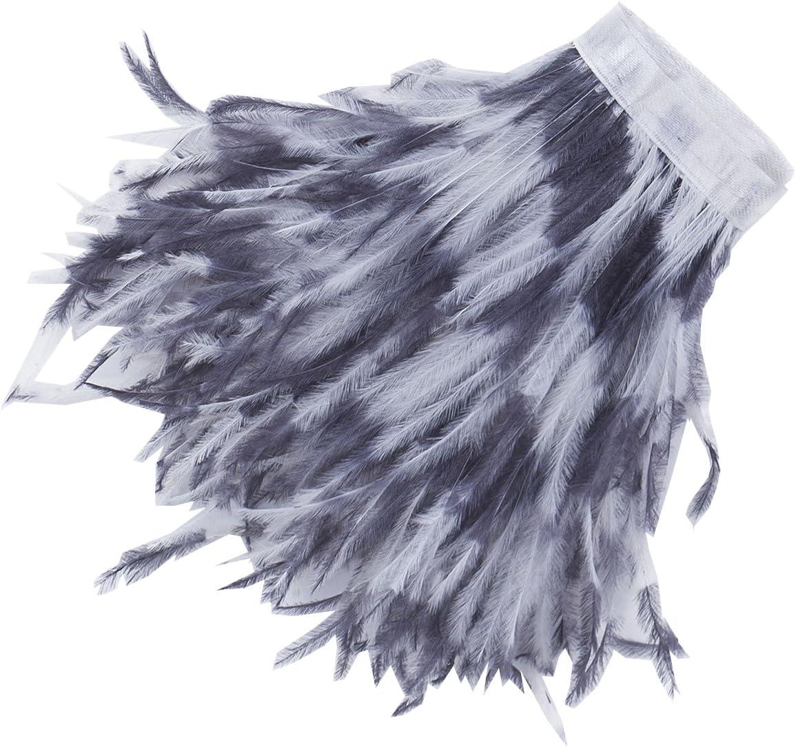 59Couleur Ruban Luxueux fourrure plumes d/'autruche Neotrims Frange rebord satin