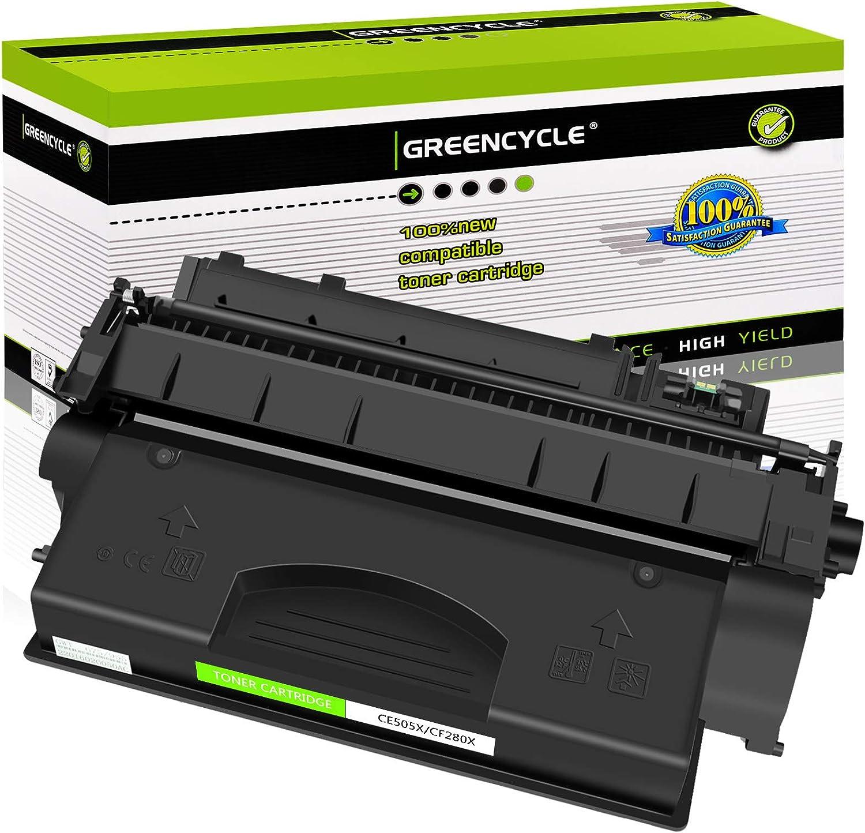 GREENCYCLE Compatible Toner Cartridge Replacement for HP 05X CE505X Work with Laserjet P2055dn P2055 P2055D P2055X Printer (Black, 1-Pack)