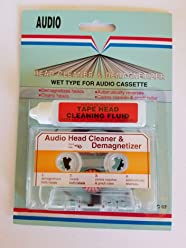 Audio Cassette Tape Head Cleaner & Demagnetizer, WetType for Home, ...