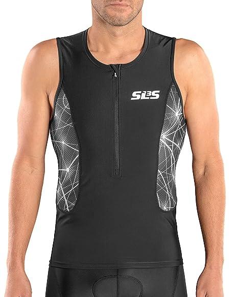 0593d14dc Amazon.com : SLS3 Tri Top Men - Triathlon Shirt Men - Men`s Tri Tops ...