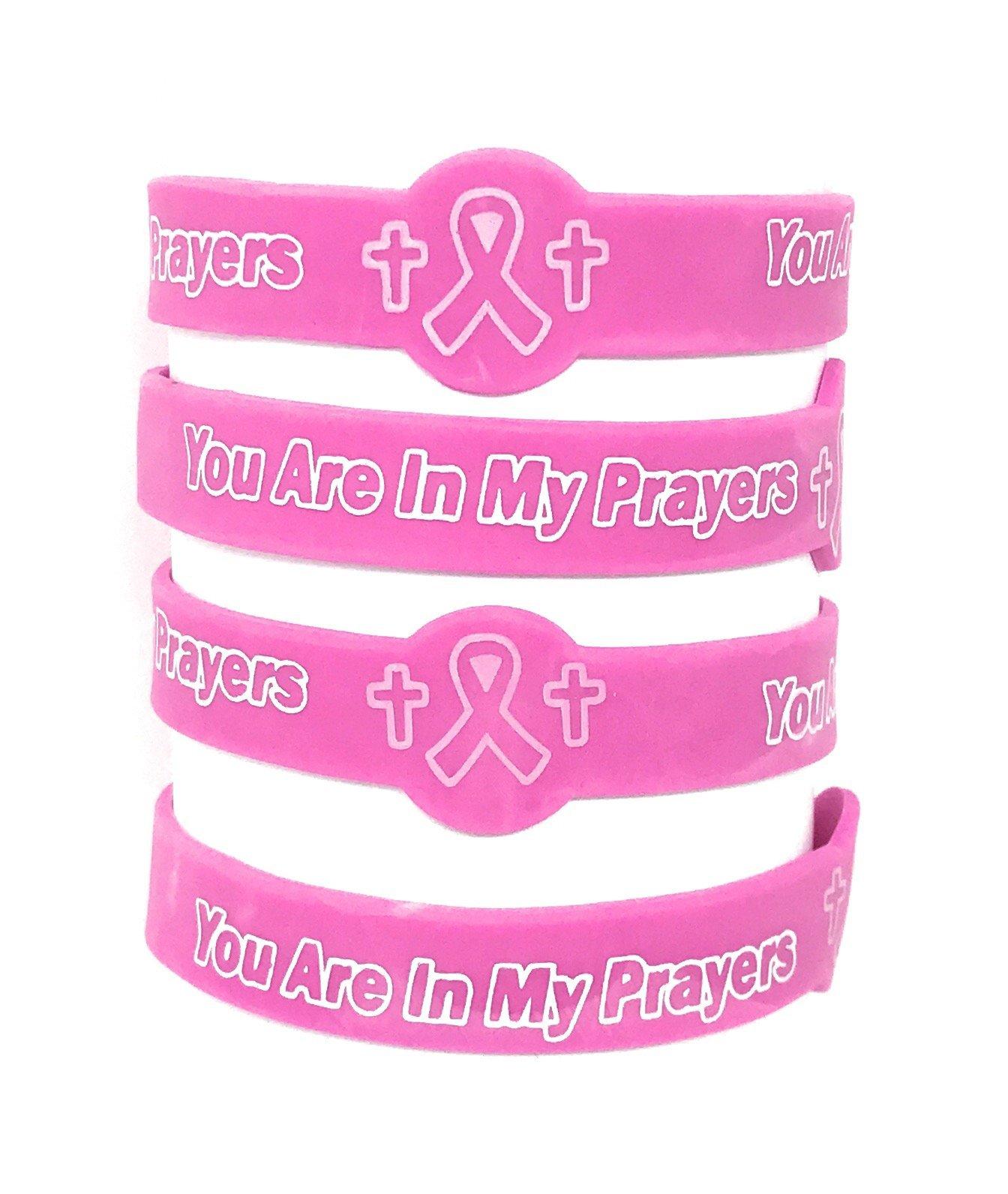 50 SVT Bulk Breast Cancer Faith Prayer Bracelets