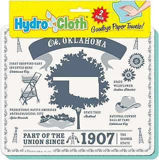"product image for Fiddler's Elbow Ok, Oklahoma"" | Eco-Friendly Sponge Cloths | Reusable Swedish Dish Cloths | Set of 2 Printed Sponge Cloths| Kitchen, Bath, auto | Replaces 30 Rolls of Paper Towels"