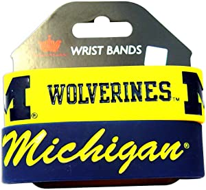 Michigan Wolverines Rubber Wrist Band Set of 2 NCAA [Misc.]