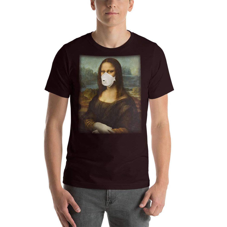 Funny Mona Face Mask Lisa Art Short-Sleeve Unisex T-Shirt