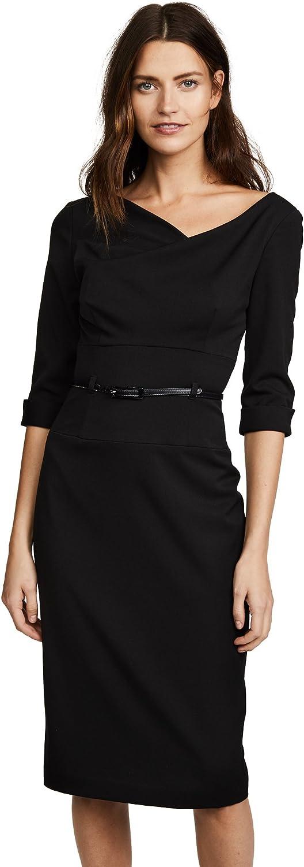 Black Halo Women's 3/4 Sleeve Jackie O Dress