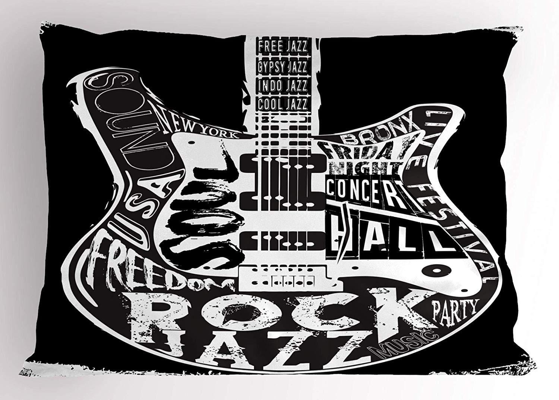 Amazon com : K0k2t0 Rock Roll Pillow Sham, Hard Rock Music
