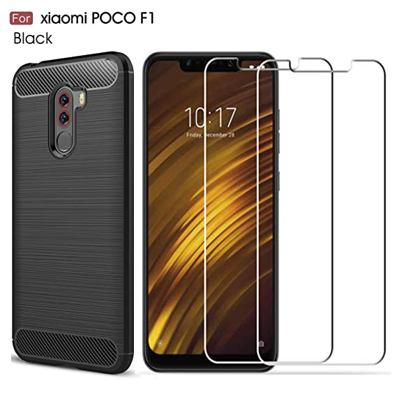 newest 04c0d 20483 MYLB Xiaomi Pocophone F1 case,with Xiaomi Pocophone F1 Screen Protector. (3  in 1)[Scratch Resistant Anti-Fall] Fashion Soft TPU Shockproof Case with ...