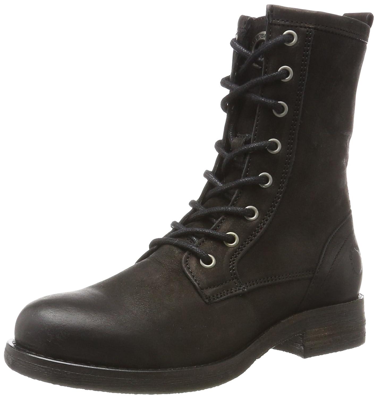 cashott A12026, Botas Militares para Mujer Negro (Black Varese 2001)