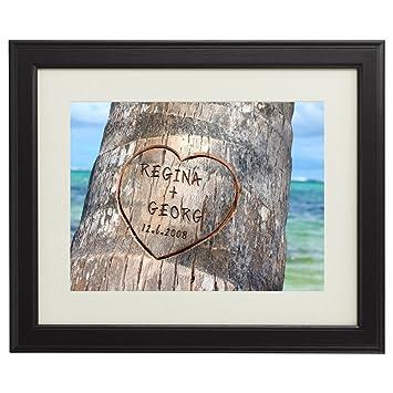 Herz Im Baum Personalisiert Mit Namen Und Datum Druck Im