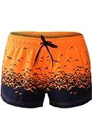 Dearlove Women's Floret Sea Gull Print Casual Beach Swim Shorts Swimwear Bottoms