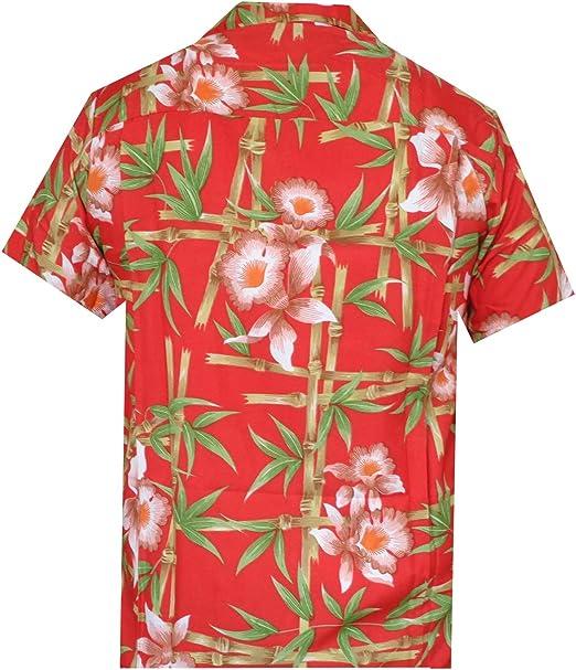 ALVISH - Camisas hawaianas de flamenco rosa para hombre, para playa, fiesta, casual, acampada, manga corta, crucero - Rojo - XX-Large: Amazon.es: Ropa y accesorios