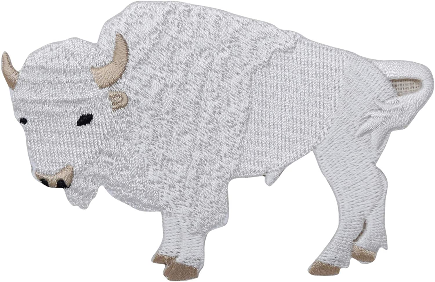 Buffalo Round Southwest//Bison//Feathers Iron on Applique//Embroidered Patch
