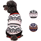 Blueberry Pet 2 Patterns Nordic Fair Isle Snowflake Dog Sweater