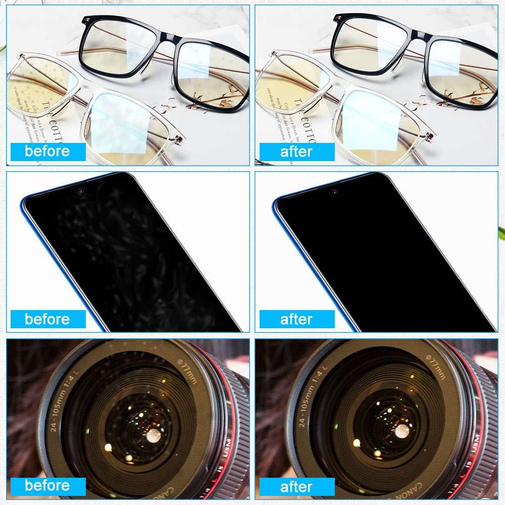 Tel/éfonos m/óviles LCD Pantallas y Otras Superficies Delicadas Tabletas Lentes de Camara 10 Black +10White PERFETSELL 20 Pa/ños Microfibra Profesionales de Limpieza para la Limpieza de Gafas