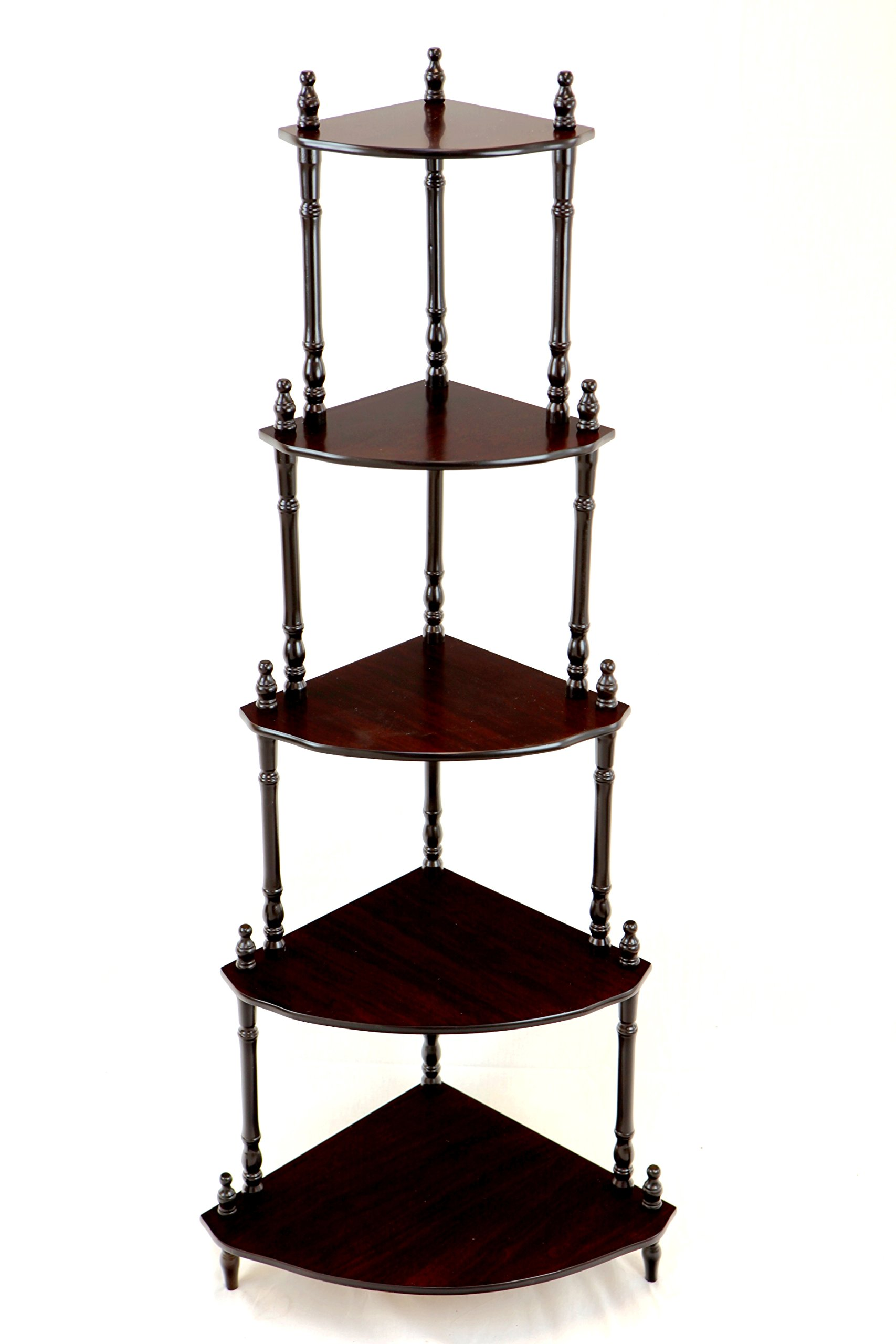 Frenchi Home Furnishing 5-Tier Corner Stand by Frenchi Home Furnishing