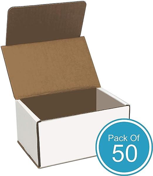 Cajas de cartón corrugado, color blanco, 6 pulgadas de largo x 4 ...
