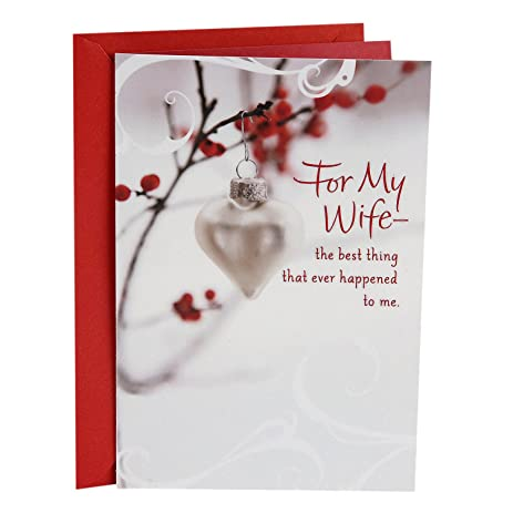 hallmark christmas card for wife heart of all good things