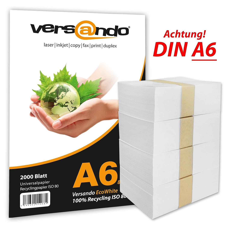Versando V80A6RY2000 Papel ecológico para impresoras y ...