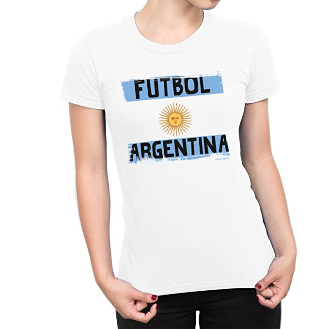 Buzz Shirts Mujeres Camiseta Futbol Argentina Copa del Mundo 2018 Fútbol Patriotic Copa America: Amazon.es: Ropa y accesorios