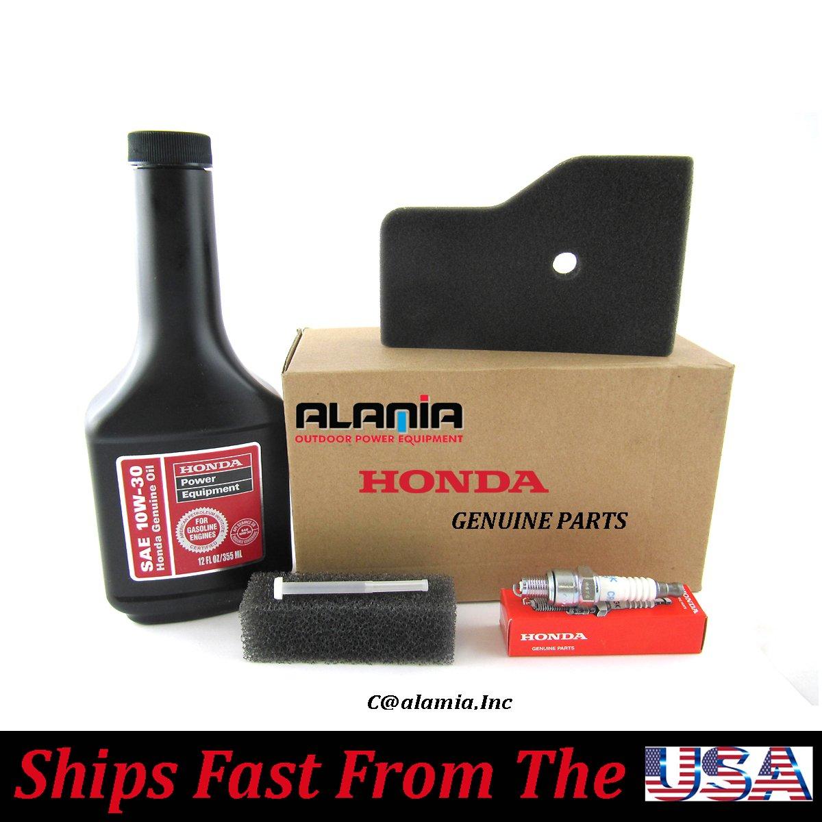 Alamia Inc Genuine Honda Eu2000i Generator Maintenance Tune Up Fuel Filters Kit Oil Spark Plug Filter