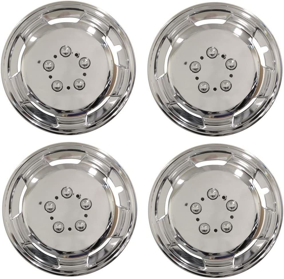 Wing Mirrors World Vauxhall Movano 15 Inch Chrome Deep Dish Wheel Trims Hub Caps 15