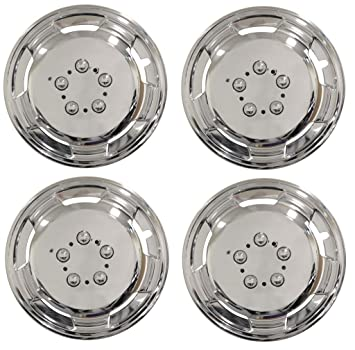 Peugeot Boxer 15 Inch Chrome Deep Dish Wheel Trims Hub Caps 15