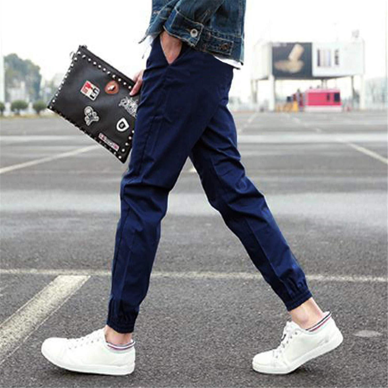 Cyose Fashion Men Pants Slim Color Straight Man Trousers MX8