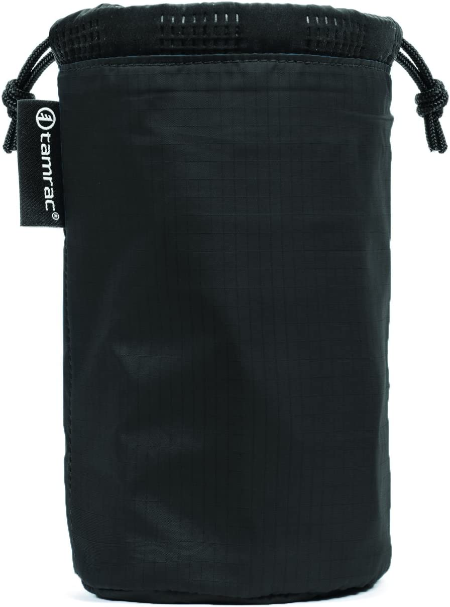 Easy-to-Access Protection Black Quilted Tamrac Goblin Lens Pouch 5.3  Lens Bag Drawstring