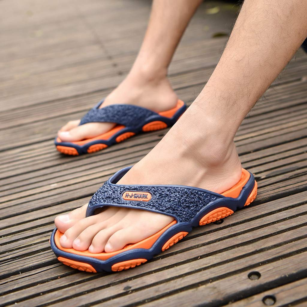 Geetobby Men's and Women's Flip Flop Shower Rubber Sandals Flip Flops Shoes by Geetobby Men's Shoes (Image #6)