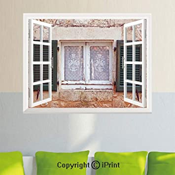 Amazon.com: Adhesivo de pared extraíble con imagen de ...