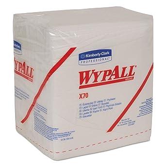 Paños WYPALL* X70 8387: 12 paquetes x 76 paños blancos, plegados en cuatro