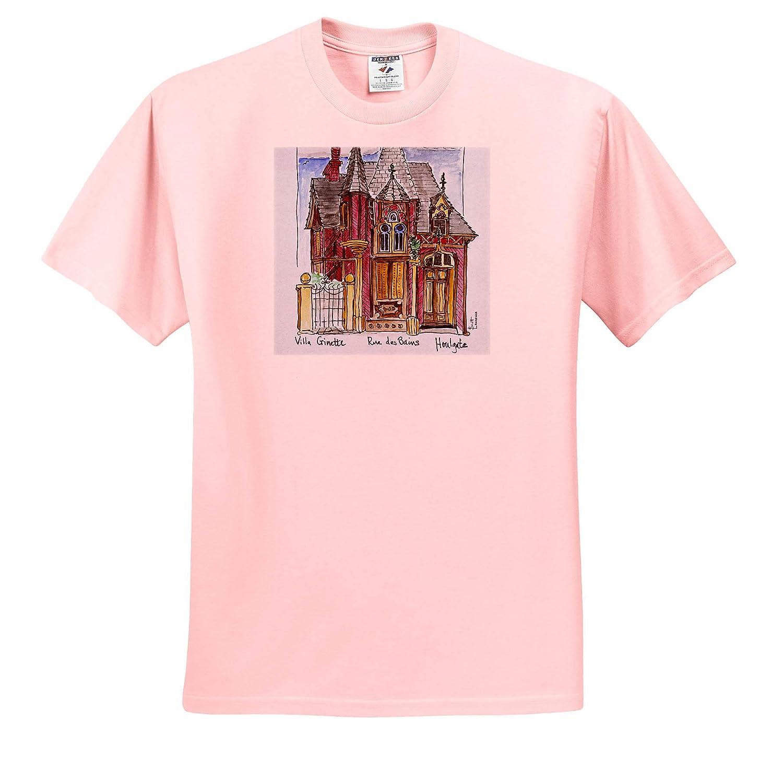 France Houlgate France 3dRose Danita Delimont House on Rue des Bains Adult T-Shirt XL ts/_313128 Normandy