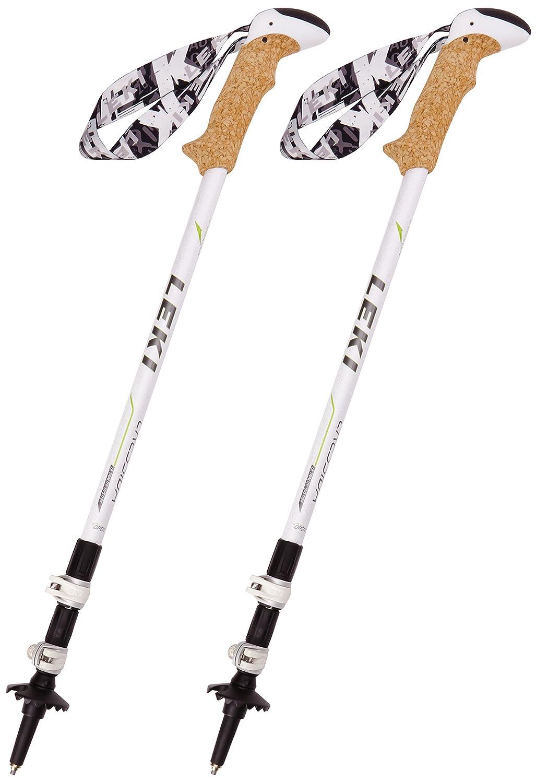Leki Womens Cressida Poles-Nacre//Green//Anthracite Size 64-125