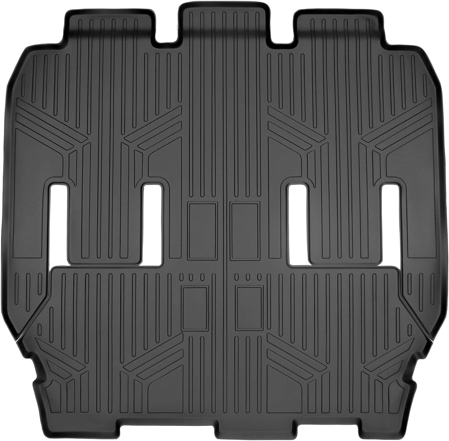 SMARTLINER Floor Mats 2nd and 3rd Row Liner Black for 2017-2020 Chrysler Pacifica 7 or 8 Passenger Model (No Hybrid Models)