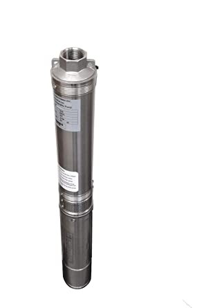 Hallmark Industries Ma0343x 4 Deep Well Submersible Pump 1 2 Hp 110v 60 Hz 25 Gpm 150 Head Stainless Steel 4 Amazon Com Industrial Scientific