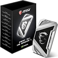 MSI 2Way SLI HB Bridge L - Adaptador Gaming, Color Negro y Gris