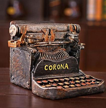GL&G Retro antiguo estilo máquina de escribir hucha Creative muebles ventana tiro apoyos nostálgico mesa escenas