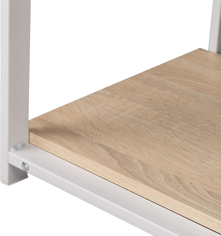 WOLTU® TSG25hei Bureau d'ordinateur avec 2 étagères,Table de Bureau Table de Travail en Bois et Acier, 120x50x73cm (LxPxH)