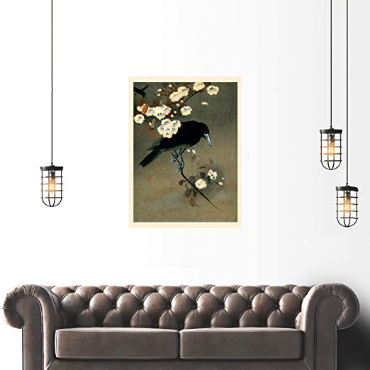 Koson Crow /& Blossom Large Poster Art Print Lf3769