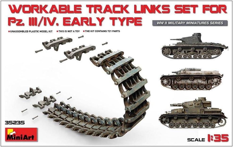 KPFW III//IV Workable Track Links Set Early Type /PZ Mini Art 35235/Model/