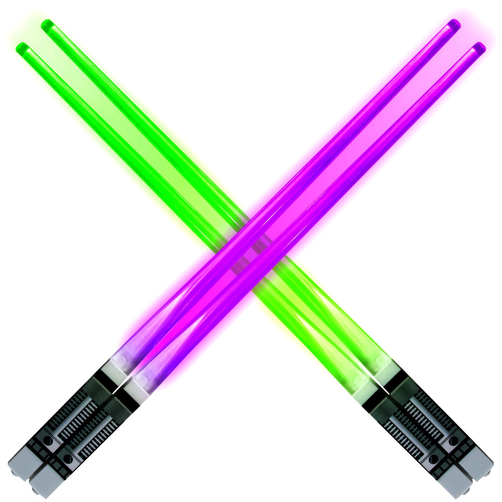 Lightsaber Light up LED Chopsticks Multi function for Star Wars Theme Party Fun for Gift Set [4 PAIR – RED/BLUE / GREEN/PURPLE SET] by Luxxis (Image #7)