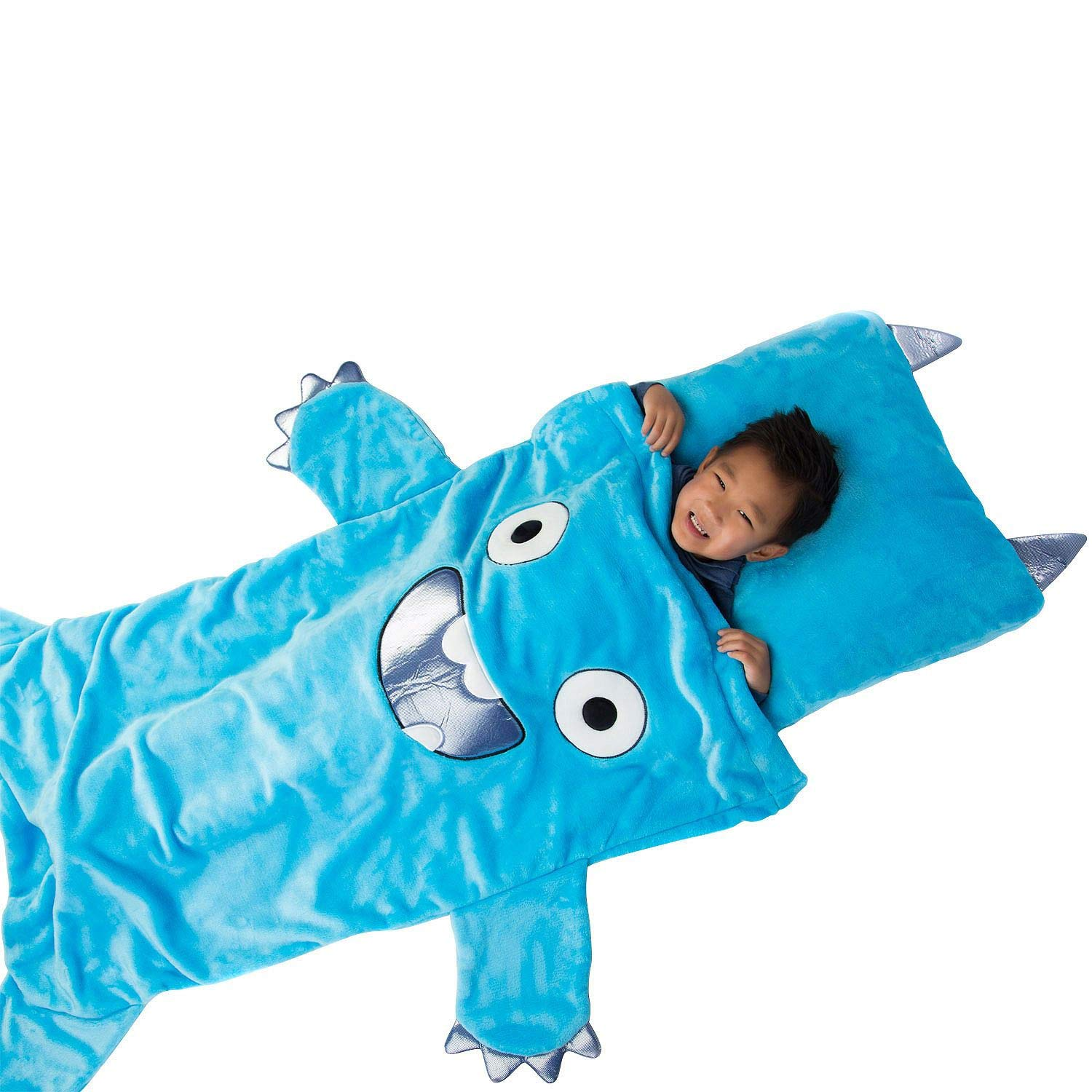 Kids Plush Sleeping Bag with Pillow Members Mark Dog