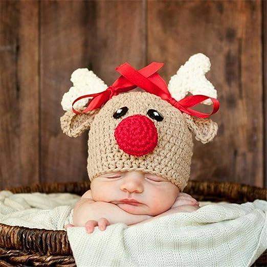 Susich Weihnachtsmütze Nikolaus Mütze Lustig Weihnachtsmützen Xmas Mützen Weihnachtsmütze Hirsch Perfekt Zur Weihnachtsfeier Newborn Bekleidung