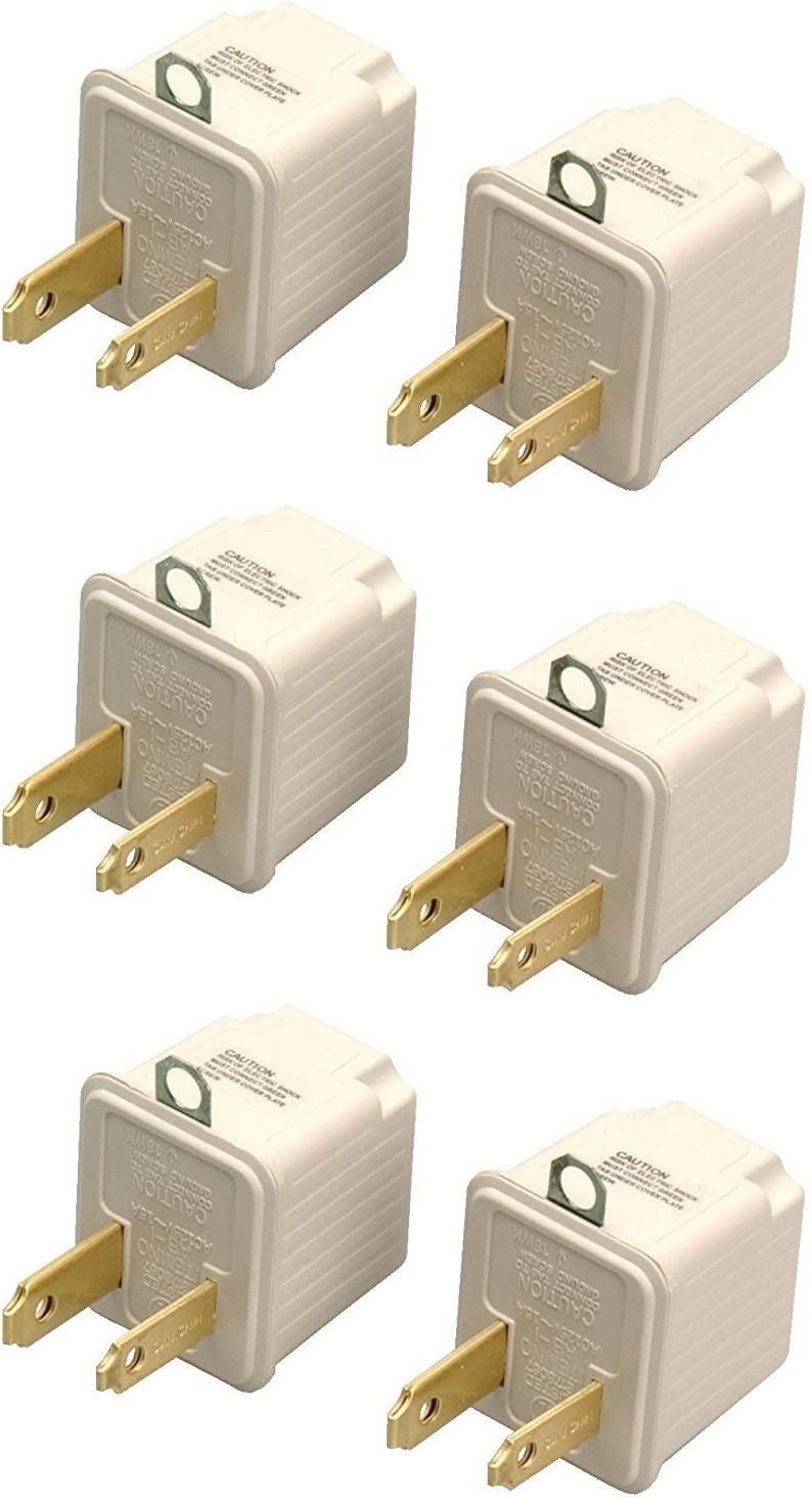 Coleman Cable 09901 3-Prong To 2-Prong Adapter,Outlet Converter 2 Pk Card