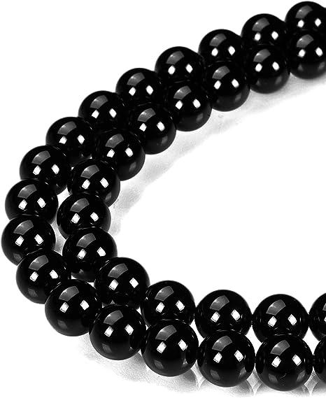 Full Strand. Black Onyx Beads 10mm Smooth Round