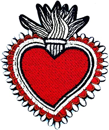 Heart Crafts Jesus Embroidered Iron On Applique Patch Love Floral